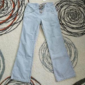 Ulla Johnson strip crop jeans size 2 nwt